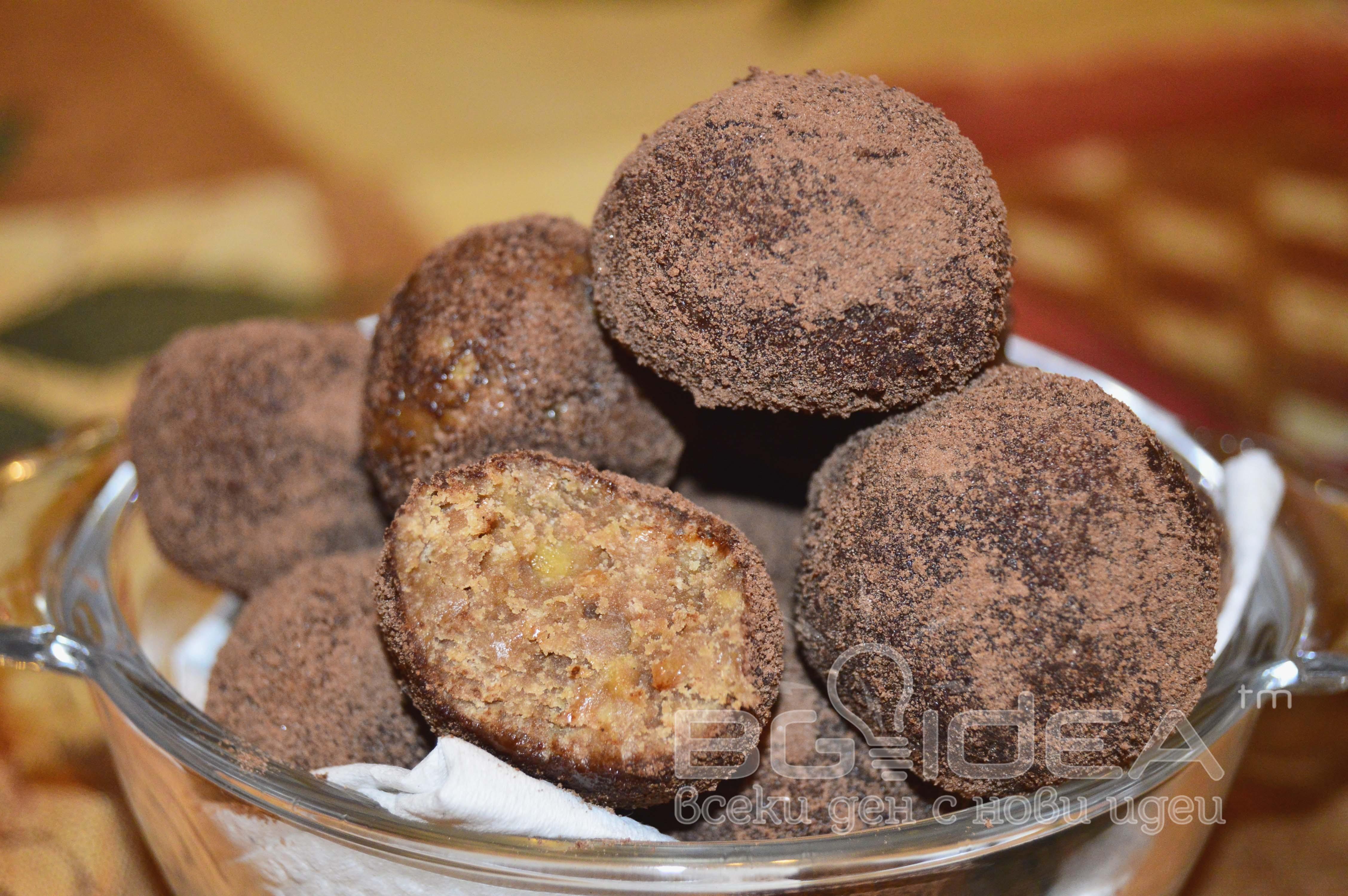 Бисквитено-шоколадови трюфели